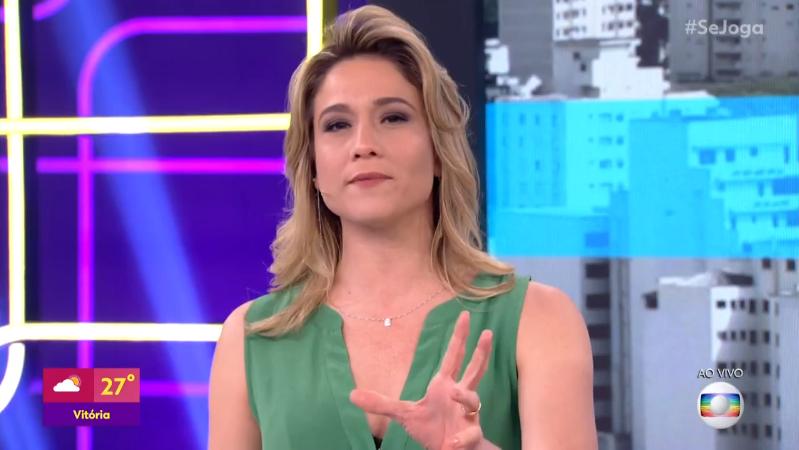 Fernanda Gentil no comando do Se Joga, que teve baixa audiência na Globo (Foto: Reprodução/Globo)