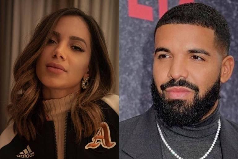 Anitta e Drake (Foto: Reprodução)