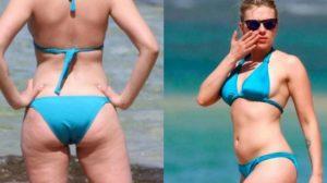 Scarlett Johansson recebe críticas da web após foto mostrando seu corpo real (Foto: Reprodução)