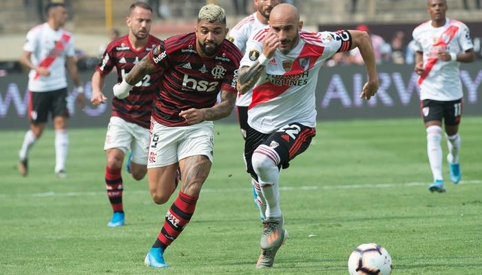 O atacante Gabigol no jogo entre Flamengo x River Plate na final da Copa Libertadores, que teve alta audiência na Globo (Foto: Alexandre Vidal/Flamengo)