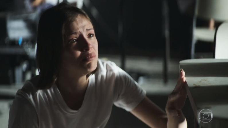 Agatha Moreira (Josiane) em cena de A Dona do Pedaço, que registrou queda de audiência (Foto: Reprodução/Globo)