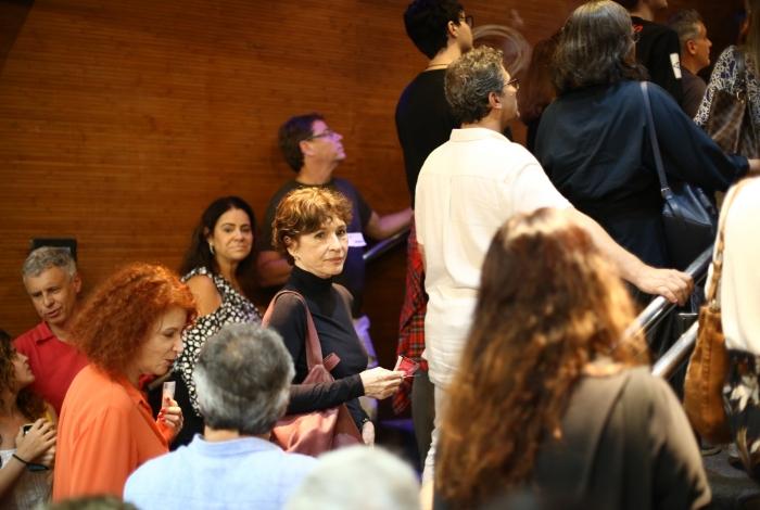 Natália do Valle na plateia da peça 'Antígona' - Daniel Delmiro/Agnews