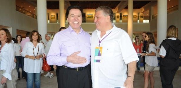 Silvio Santos e Guilherme Stoliar (Divulgação/SBT)