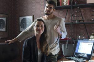 Rock (Caio Castro) seria um vilão e Fabiana (Nathalia Dill) se relacionaria com personagem que virou gay em A Dona do Pedaço (Foto: Globo/Estevam Avellar)
