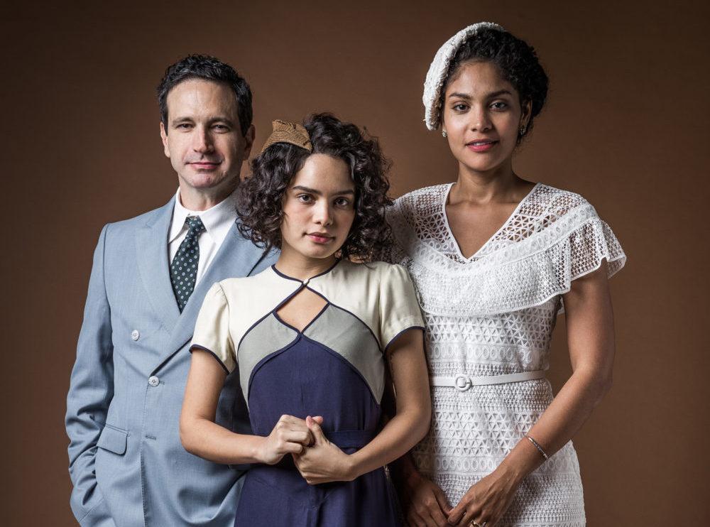 João Aranha (Caco Ciocler), Inês (Carol Macedo) e Shirley (Barbara Reis) em mudança de fase de Éramos Seis