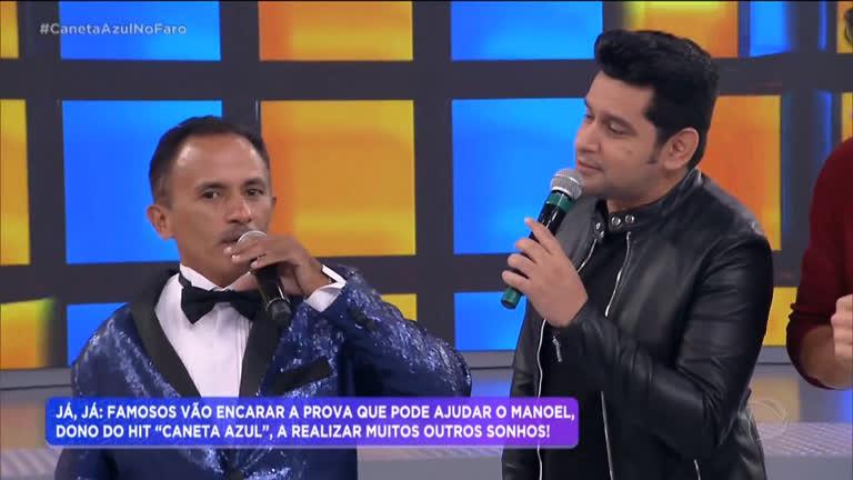 Manoel Gomes com o cantor Léo Magalhães (Foto: Reprodução)