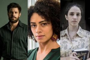 Alejandro Claveaux, Ana Flavia Cavalcanti e Roberta Gualda estão em Amor de Mãe da Globo (Montagem: TV Foco)