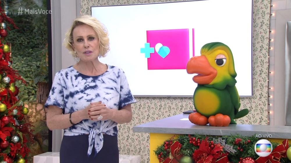 Ana Maria Braga e Louro José (Foto: Reprodução/TV Globo)