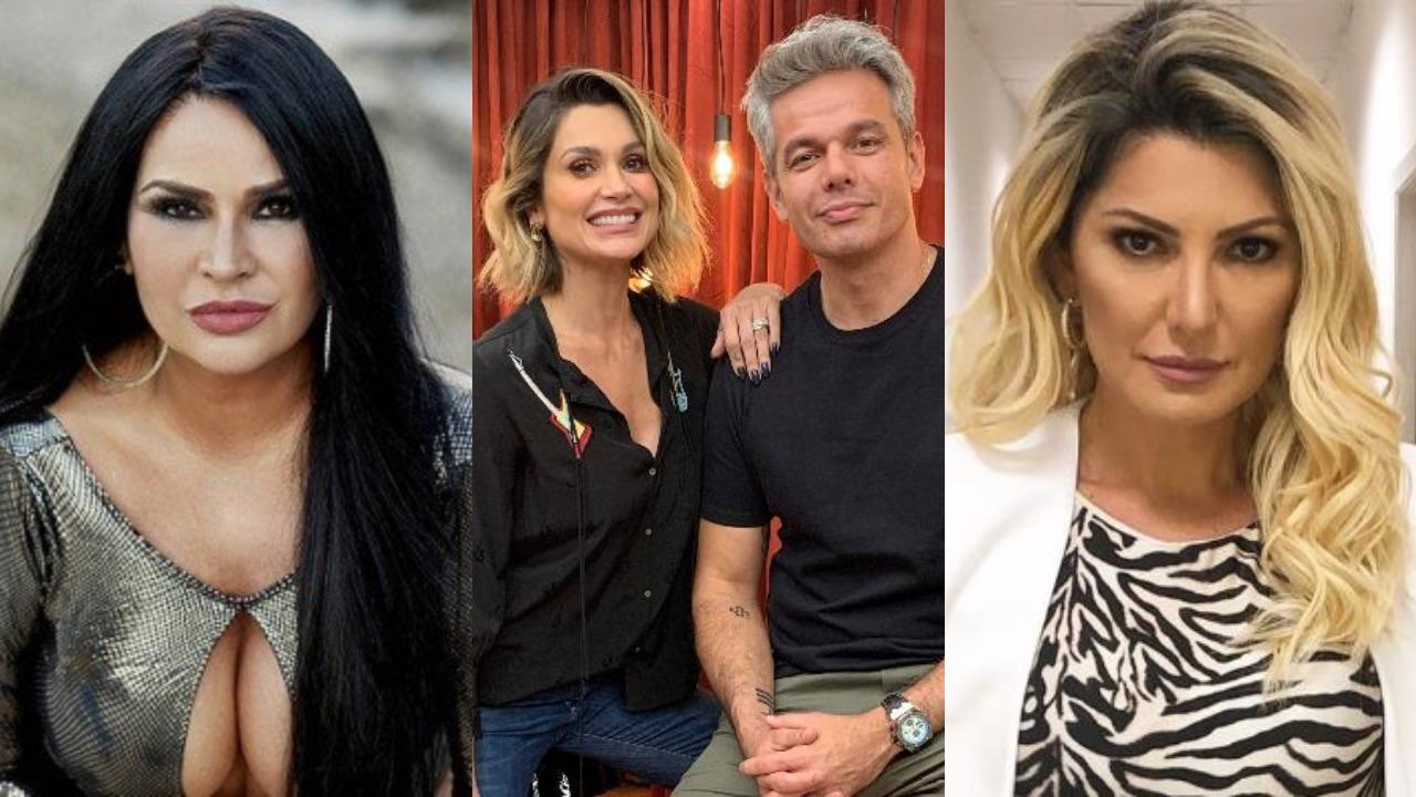 Antonia Fontenelle, Solange Gomes, Flávia Alessandra e Otaviano Costa (Foto: Reprodução/Instagram/Montagem TV Foco)