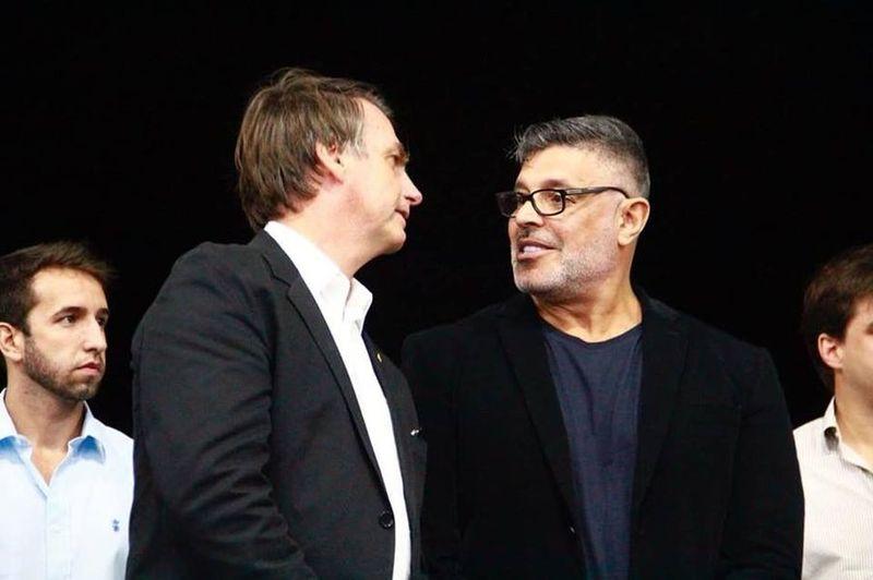 Jair Bolsonaro e Alexandre Frota eram grandes aliados (Foto: Reprodução)