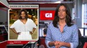 Glória Maria deve deixar o hospital até este final de semana (Foto: reprodução/Globoplay)