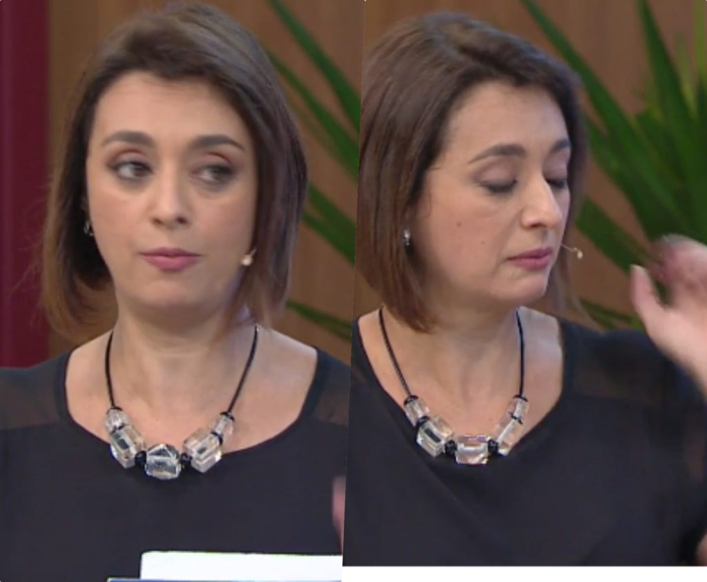 Catia Fonseca se emocionou muito ao vivo no Melhor da Tarde da Band (Foto reprodução)