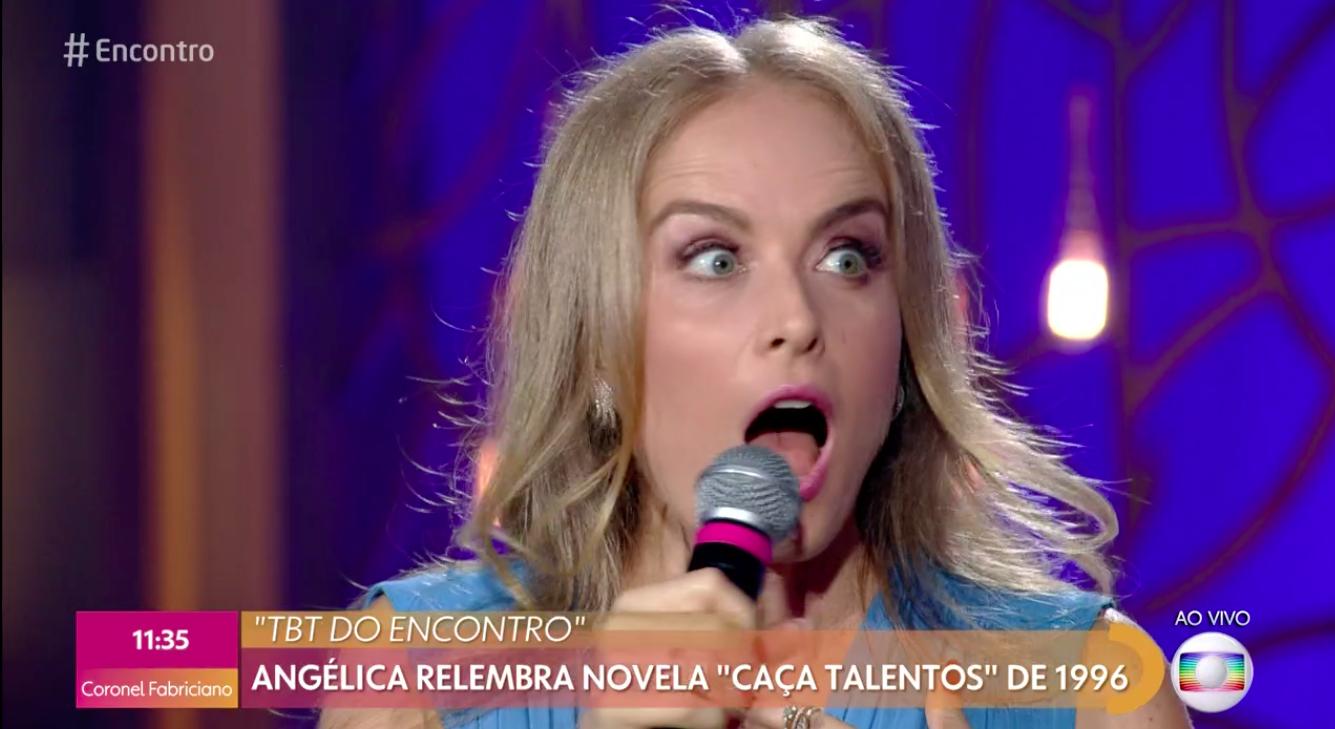 Angélica no programa Encontro com Fátima Bernardes (Foto: Reprodução)