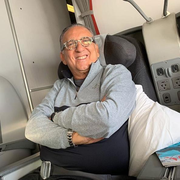 Galvão Bueno havia publicado foto ao chegar em Lima, no Peru (Foto: Reprodução/Instagram)