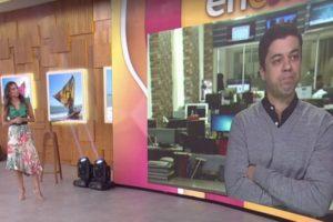 Patrícia Poeta e Thiago passam por saia justa durante Encontro ao terem áudio vazado ao vivo pela Globo. Foto: Reprodução