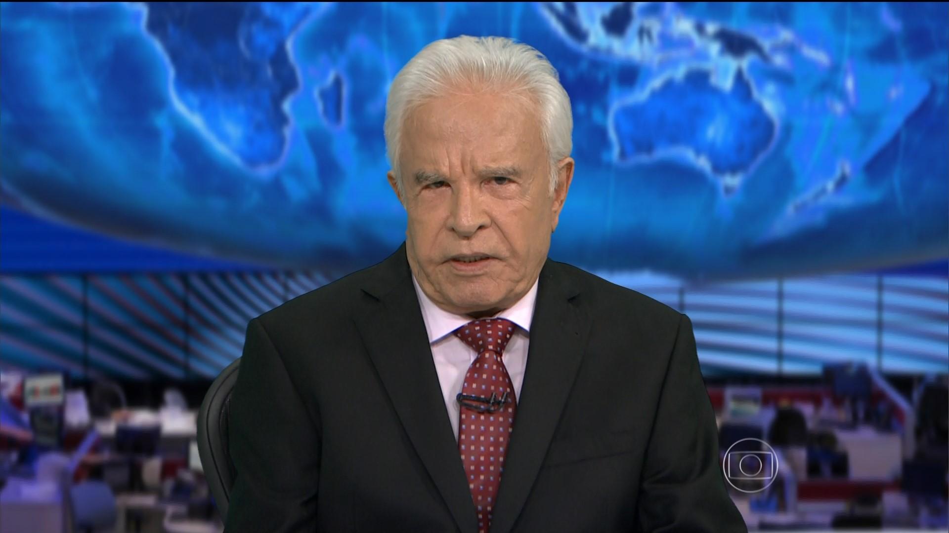 O apresentador era o âncora do Jornal Nacional (Foto: Reprodução)