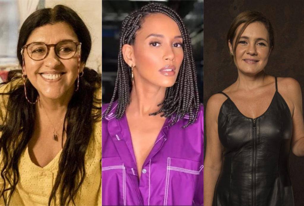 Regina Casé, Taís Araújo e Adriana Esteves protagonizam Amor de Mãe na Globo (Montagem: Adriel Marques/TV Foco)