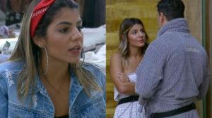 Hariany Almeida detona Lucas Viana em conversa com Viny Vieira na baia de A Fazenda 11 da Record (Montagem: Adriel Marques/TV Foco)