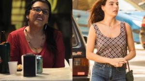 Regina Casé é Lurdes e Isis Valverde Betina em Amor de Mãe da Globo (Montagem: TV Foco)