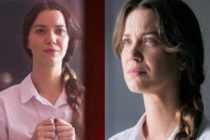 Fabiana (Nathalia Dill) promete causar em convento de A Dona do Pedaço na Globo (Montagem: TV Foco)