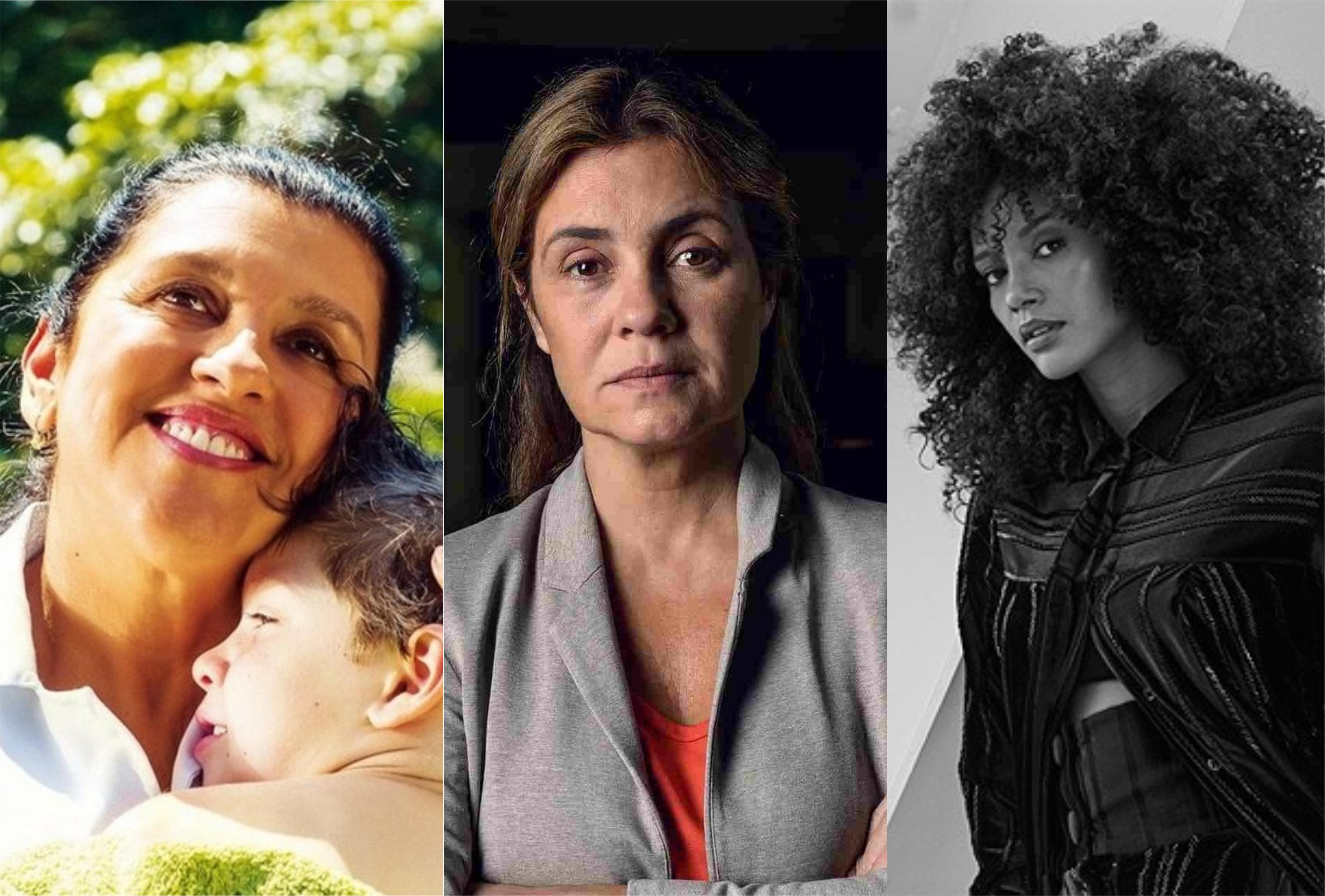 Regina Casé, Adriana Esteves e Taís Araújo protagonizam Amor de Mãe na Globo (Montagem: TV Foco)