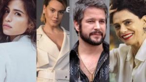 Nanda Costa, Letícia Lima e Malu Galli vivem romance com Murilo Benício em Amor de Mãe da Globo (Montagem: TV Foco)