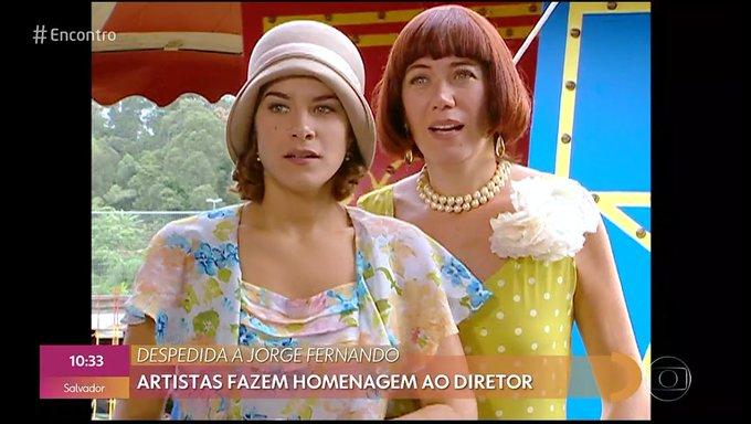 Lilia Cabral e Priscila Fantin na época de Alma Gêmea, novela escrita por Walcyr Carrasco e dirigida por Jorge Fernando (Foto: Reprodução/ TV Globo)
