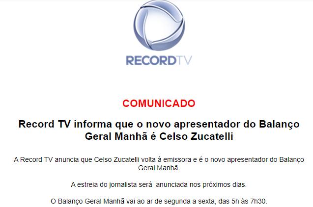 RecordTV, Celso Zucatelli