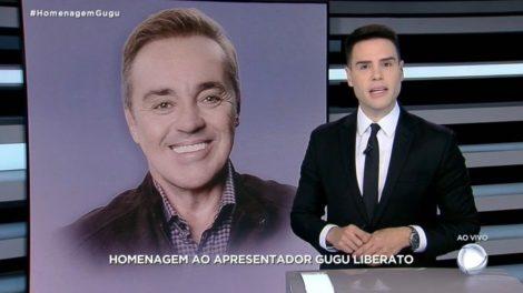 Luiz Bacci comandou plantão sobre Gugu na Record (Foto: Reprodução)