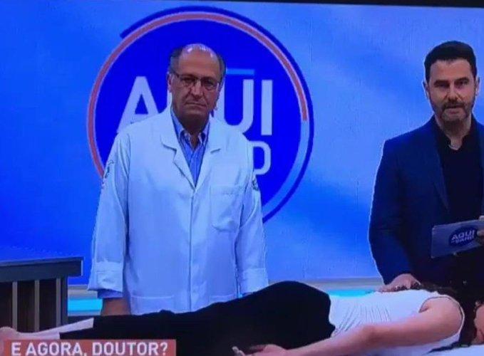 Geraldo Alckmin em programa na TV (Foto: Reprodução/ Band)