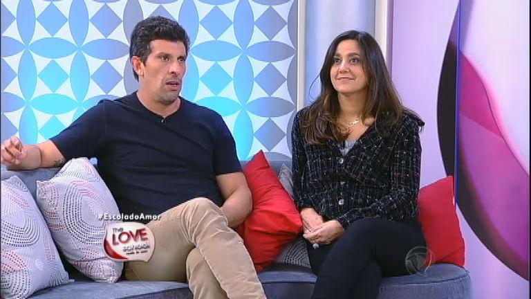 O ator Milhem Cortaz e a esposa, de quem já pensou em se separar (Foto: Reprodução)
