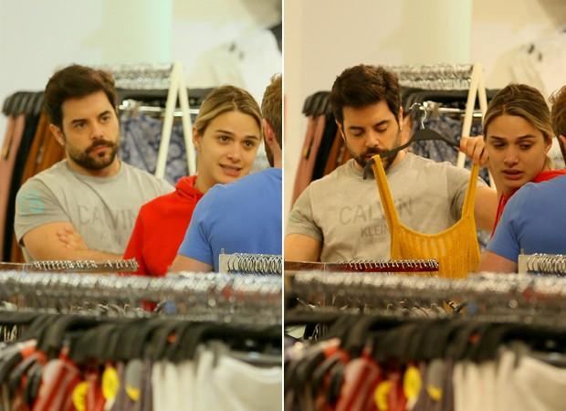 Glamour Garcia e Pedro Carvalho são flagrados fazendo compras em um shopping do Rio de Janeiro (Foto: Edson Aipim / AgNews)