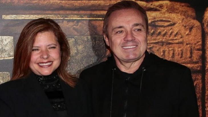 O famoso ex-apresentador da Record, Gugu Liberato e a sua viúva, Rose Miriam (Foto: Divulgação)