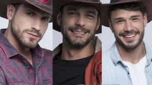 Guilherme Leão, Lucas Viana e Diego Grossi estão na Roça de A Fazenda 11 (Montagem: TV Foco)