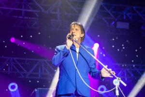 O cantor Roberto Carlos durante um de seus shows (Foto: Divulgação)