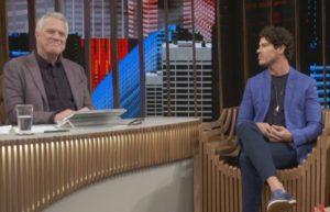 O famoso José Loreto no Conversa com Bial, da Globo (Foto: Reprodução/Globolay)