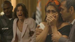 Josiane (Agatha Moreira) vai encarar 30 anos de prisão em A Dona do Pedaço da Globo (Montagem: TV Foco)