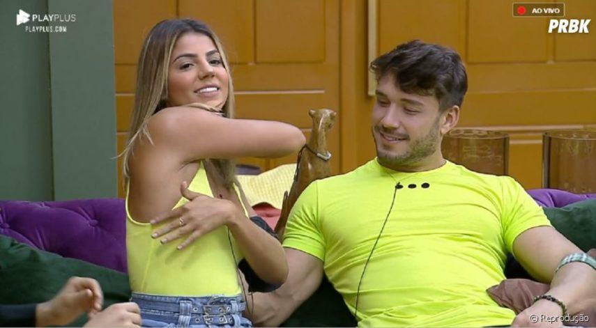 Lucas Viana e Hariany Almeida terminam o relacionamento em A Fazenda 11 pela segunda vez (Reprodução: PlayPlus)
