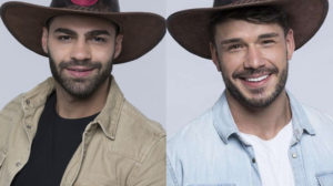 Lucas Viana e Netto discutem feio em A Fazenda após Prova de Fogo (Montagem: Adriel Marques/TV Foco)