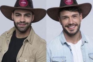 Lucas Viana e Netto discutem feio em A Fazenda (Montagem: Adriel Marques/TV Foco)