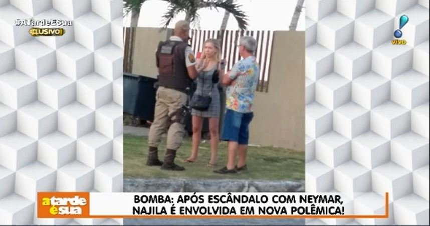 Najila Trindade se envolve em nova polêmica (Foto: Reprodução/ A Tarde É Sua)