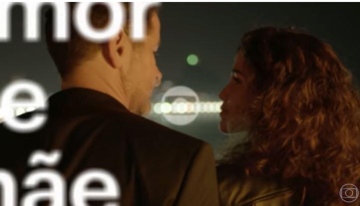 Nanda Costa e Murilo Benício vivem romance em Amor de Mãe da Globo (Reprodução: YouTube/TV Globo)