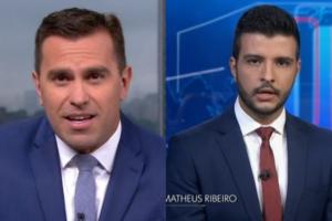 O apresentador do Bom Dia São Paulo e suposto substituto de William Bonner, fala sobre contratação de Matheus Ribeiro, que apresentou o Jornal Nacional (Foto: Montagem TV Foco)