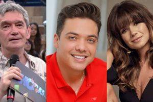 Serginho Groisman, Wesley Safadão e Paula Fernandes (Foto: Divulgação/Montagem TV Foco)