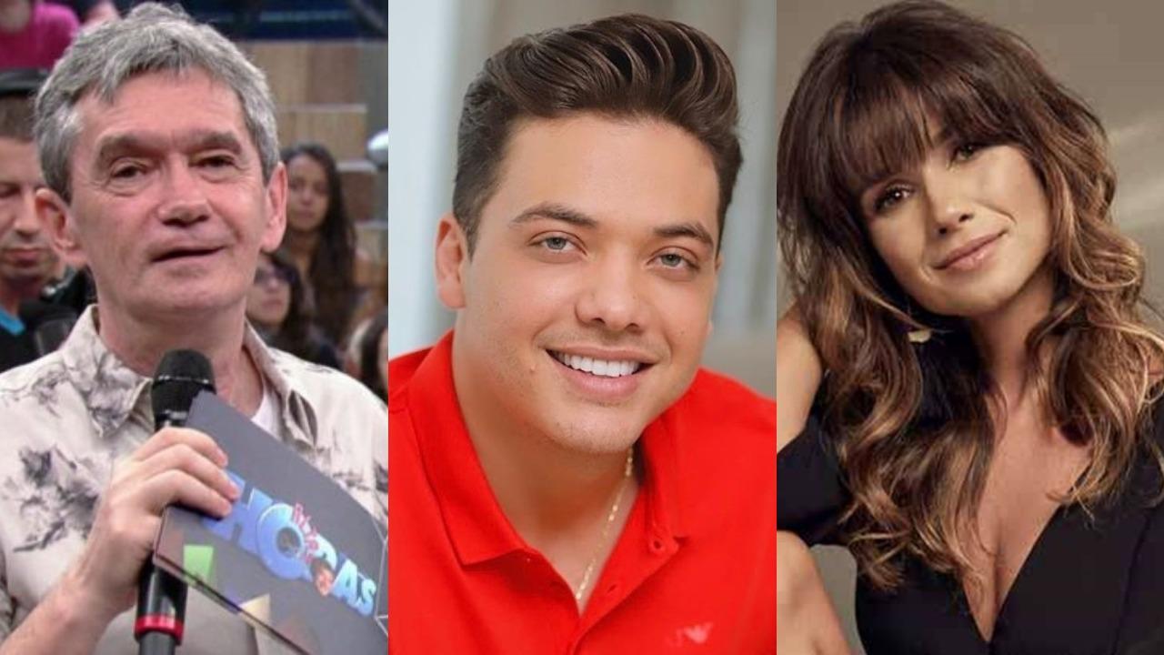 Serginho Groisman Altas Horas, Wesley Safadão e Paula Fernandes (Foto: Divulgação/Montagem TV Foco)