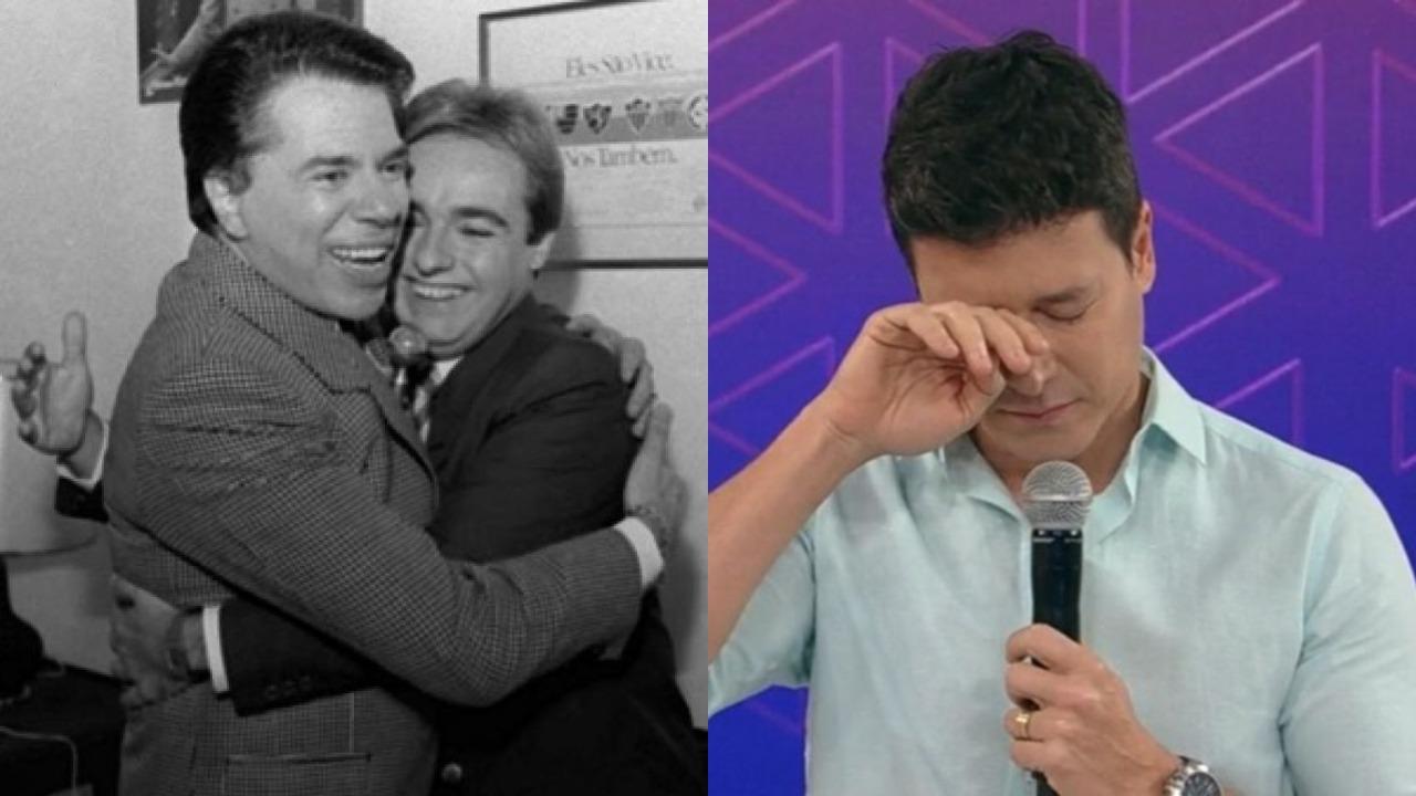 Silvio Santos, Gugu Liberato e Rodrigo Faro (Foto: Reprodução/Record/SBT)