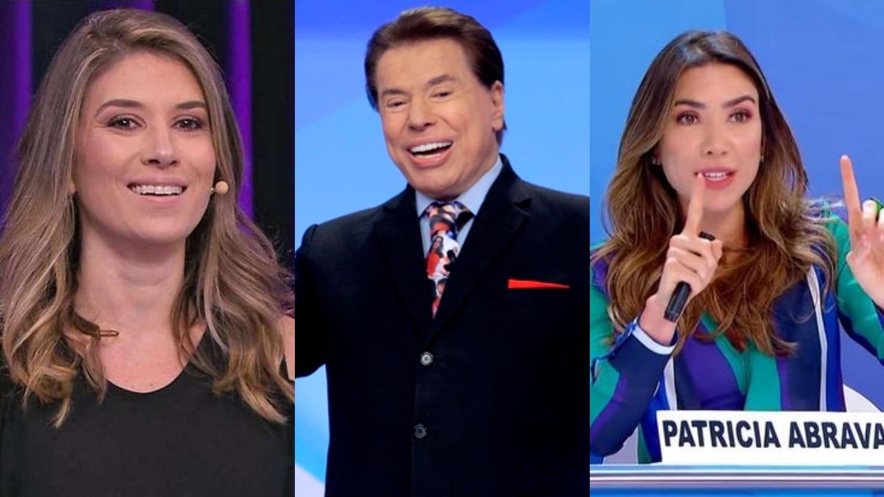 Silvio Santos, Rebeca Abravanel e Patrícia Abravanel (Foto: Divulgação/SBT/Montagem TV Foco)