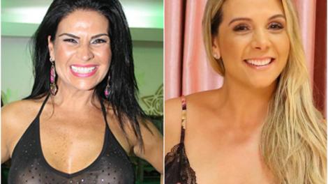 Solange Gomes e Carla Perez se envolvem em polêmica (Foto; Montagem TV Foco)