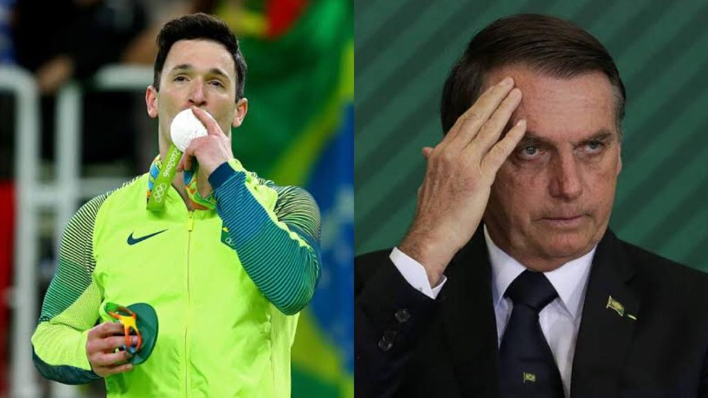 Diego Hypólito surgiu em foto polêmica ao lado do Presidente Jair Bolsonaro (Foto: Reprodução)