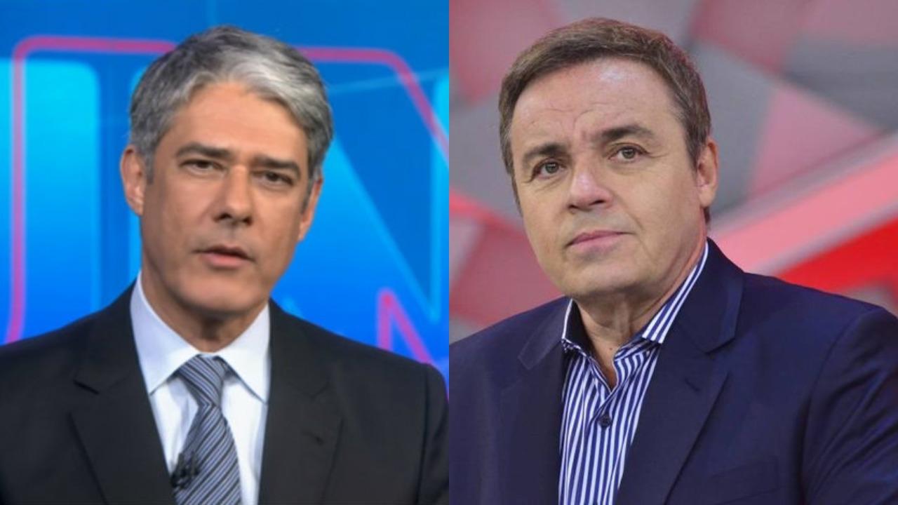 William Bonner e Gugu Liberato (Foto: Reprodução/Montagem TV Foco)